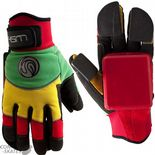 "LUSH LONGBOARDS ""Freeride Deluxe"" Slide Gloves Skateboard Longboard Downhill RASTA"